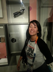 Me giddy at some Star Wars stuff at EMP community appreciation party