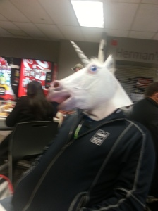 Who doesn't love lunch with a unicorn.