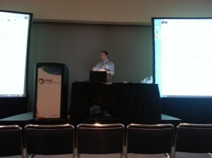 Josh in his session on analytics in Excel 2013