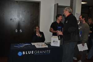 Amy at the BlueGranite booth