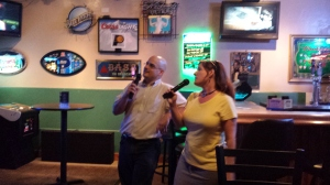 David and Wendy doing up some karaoke.