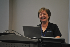 Kathi looks to be having fun in her session
